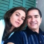 Un selfie con Vittoria Puccini sul set